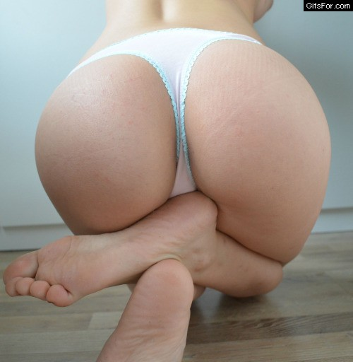 Tiny ass in thigh underwear