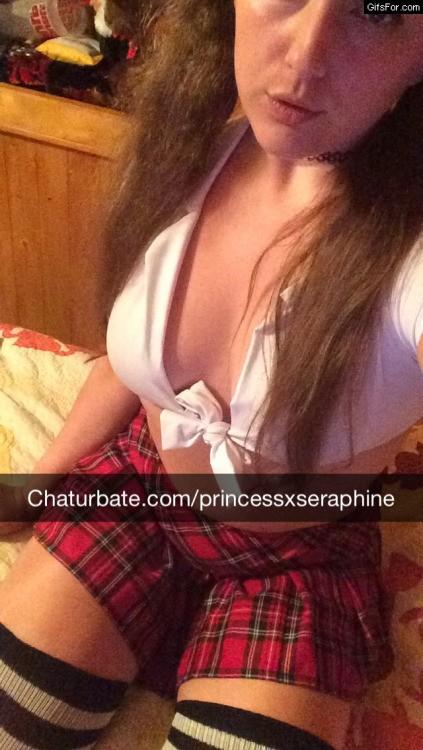 Princessxseraphine as a schoolgirl in long socks