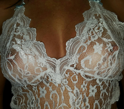sandyc4fun: Lace lingerie see through top ?