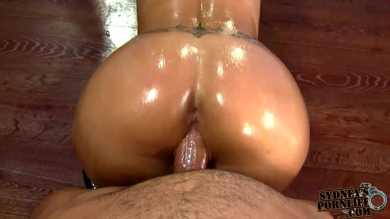 FUCKING OILED ASS