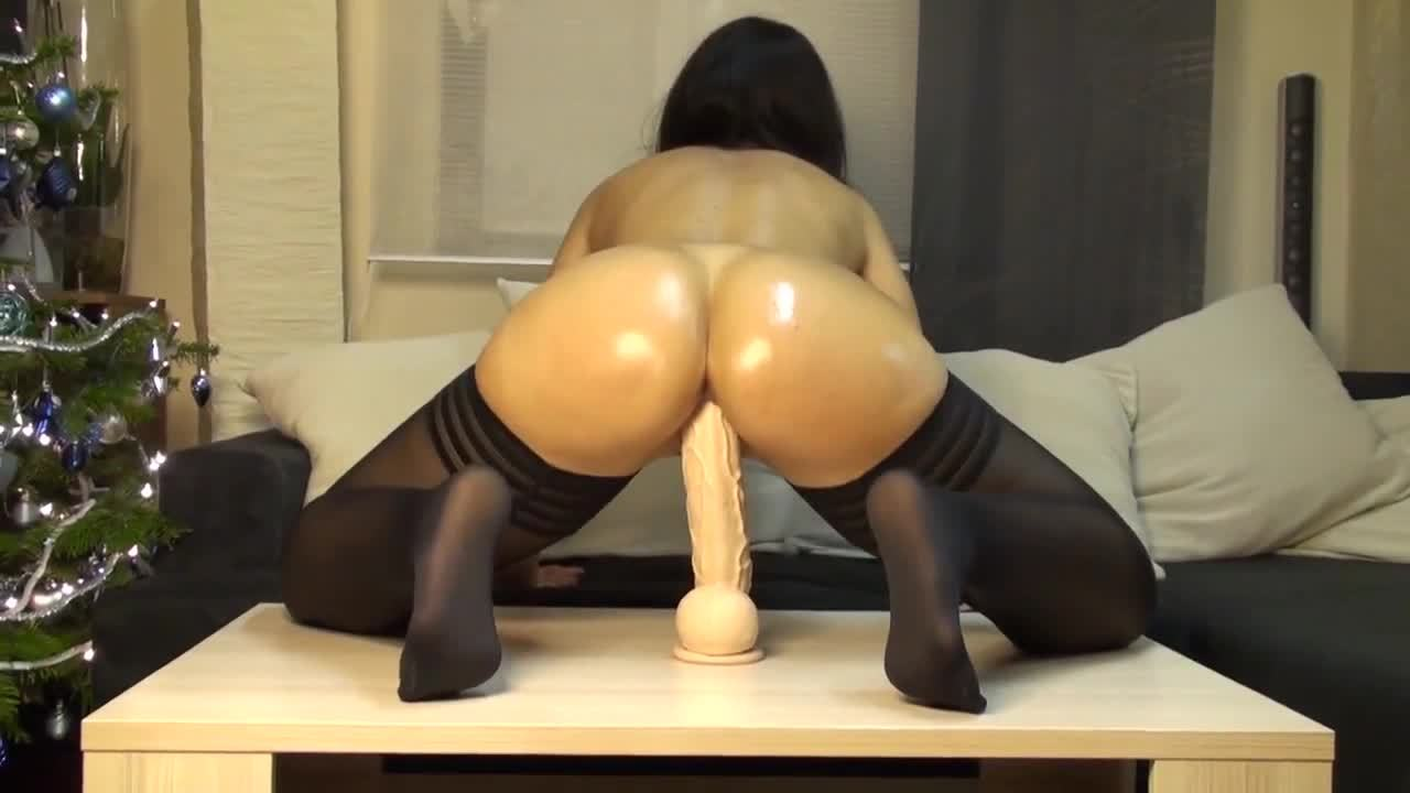 The Hottest 2 foot Monster Dildo Riding EVER